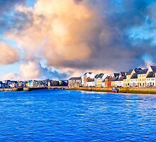Morning Overlooking The Waters of Galway Ireland by Mark Tisdale