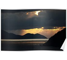 Sunset in the Virgin Islands Poster