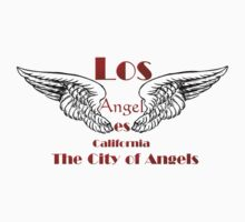 Los Angeles City of Angels T Shirt by Lisa  Weber