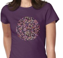 Leaves + Berries in Olive, Plum & Burnt Orange Womens Fitted T-Shirt