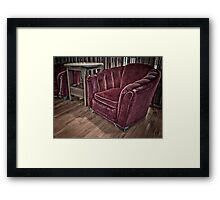 Velvet Chair Framed Print