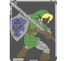 Legend of Zelda - Link - Typography iPad Case/Skin