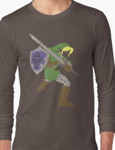 Legend of Zelda - Link - Typography Long Sleeve T-Shirt