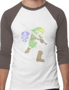 Legend of Zelda - Link - Typography Men's Baseball ¾ T-Shirt