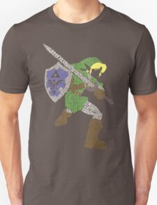 Legend of Zelda - Link - Typography Unisex T-Shirt