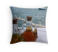 Oil and Vinegar Throw Pillow