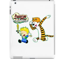 Adventure Time Calvin and Hobbes iPad Case/Skin