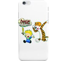 Adventure Time Calvin and Hobbes iPhone Case/Skin