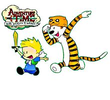 Adventure Time Calvin and Hobbes by SeeSide