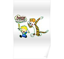 Adventure Time Calvin and Hobbes Poster