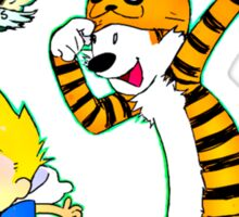 Adventure Time Calvin and Hobbes Sticker