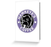 Hawkeye's Coffee Greeting Card