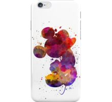 Mickey Mouse in watercolor iPhone Case/Skin