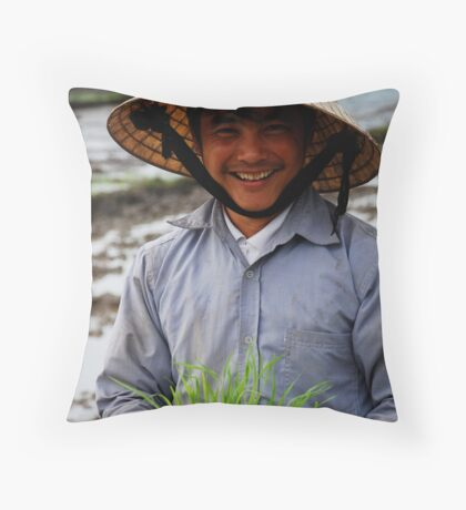 Farmer - Highway 14 (The Ho Chi Minh Trail) Throw Pillow