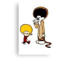 Calvin and Hobbes New Hair Canvas Print
