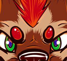 Mohawk Hyena Sticker