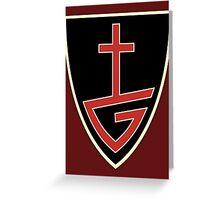 Gospel Music Cross  Greeting Card