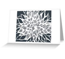 flower (gray) Greeting Card