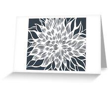flower (gray) Greeting Card