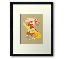 Torchic Evolution Framed Print