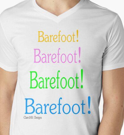 Barefoot! Barefoot! Mens V-Neck T-Shirt
