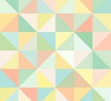 Pastel Triangle Pattern by Natalie Tyler