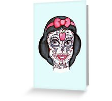 Snow Sugar Skull Greeting Card
