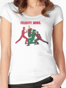 Felicity. Wins. Women's Fitted Scoop T-Shirt