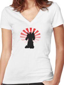 Rising Sun Women's Fitted V-Neck T-Shirt