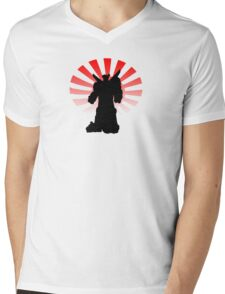 Rising Sun Mens V-Neck T-Shirt