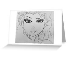 Cold Never Bothered Me Anyway Inspired Artwork Greeting Card