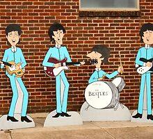Beatles ~ Sidewalk Tribute by roadsidestills
