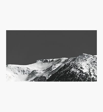 Black and Snow Photographic Print