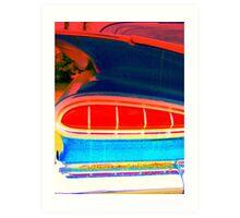Blue Chevy Impala Tail Light Art Print