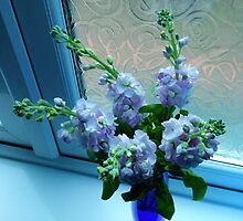 Flowers Dreaming in Blue Light by MidnightMelody