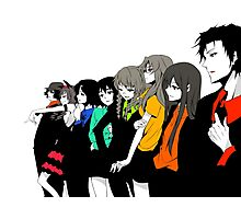 Steins gate characters anime shirt Photographic Print