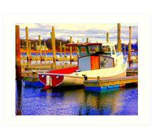 International Color Boat Art Print