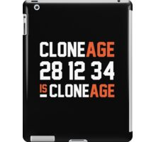 Cloneage Is Cloneage (Black Ver.) iPad Case/Skin