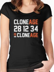 Cloneage Is Cloneage (Black Ver.) Women's Fitted Scoop T-Shirt