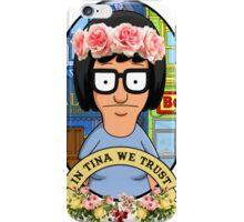 In Tina Belcher We Trust floral iPhone Case/Skin