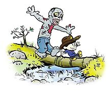 Calvin and Hobbes Walk with Zombie by SeeSide