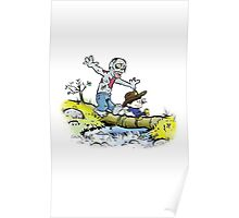 Calvin and Hobbes Walk with Zombie Poster