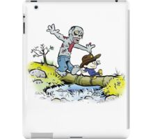 Calvin and Hobbes Walk with Zombie iPad Case/Skin