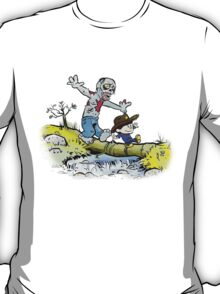 Calvin and Hobbes Walk with Zombie T-Shirt