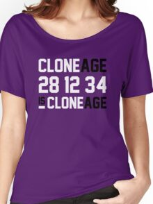 Cloneage Is Cloneage (Orange Ver.) Women's Relaxed Fit T-Shirt