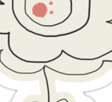 Doodle Flowers and Circles Pattern Sticker