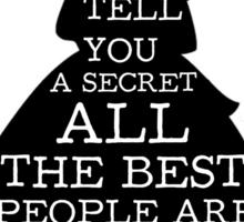 Alice in Wonderland Have I Gone Bonkers Quote Sticker