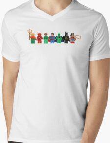 LEGO Justice League of America Mens V-Neck T-Shirt