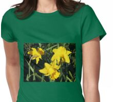 Daffodils Dreaming Womens Fitted T-Shirt