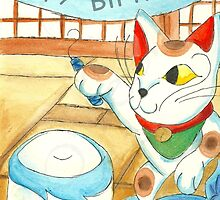 Neko Birthday Celebration by KOKeefeArt